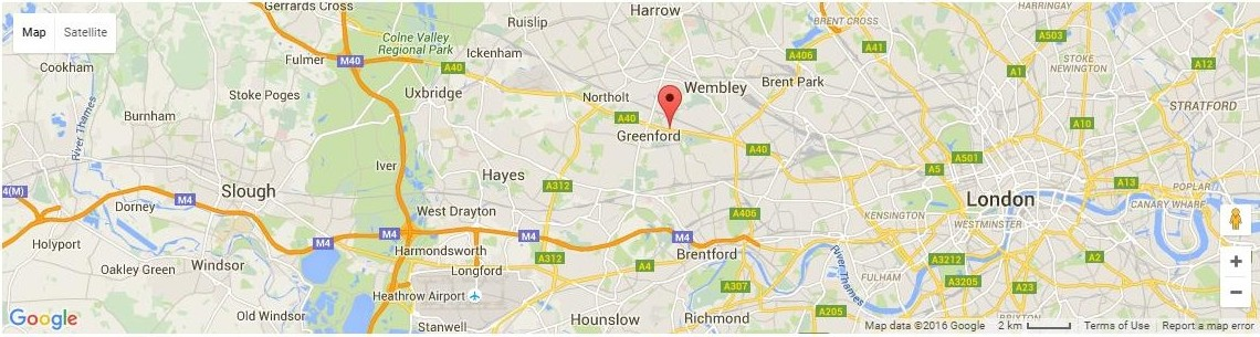 greenford dentist dentael map