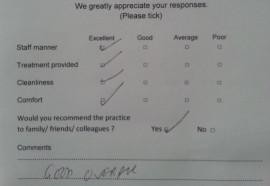 dentael patient review