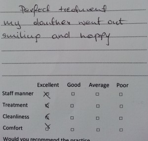 Testimonial for Greenford Dentist