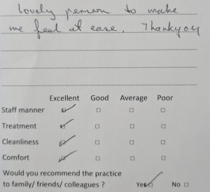 excellent dentist review